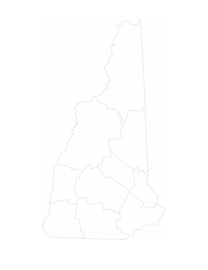 Blank New Hampshire County Map Free Download