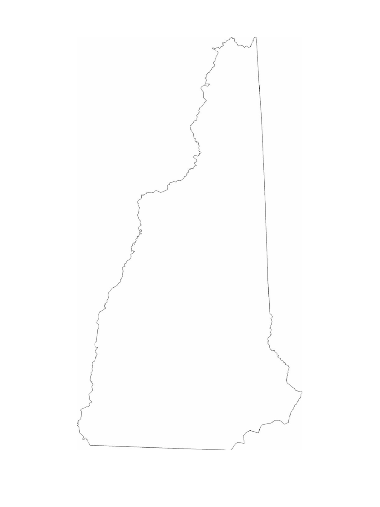 New Hampshire State Outline Map