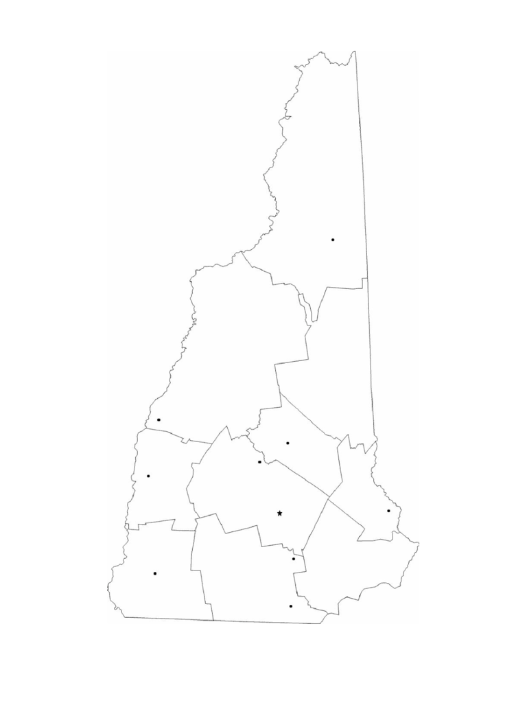 Blank New Hampshire City Map