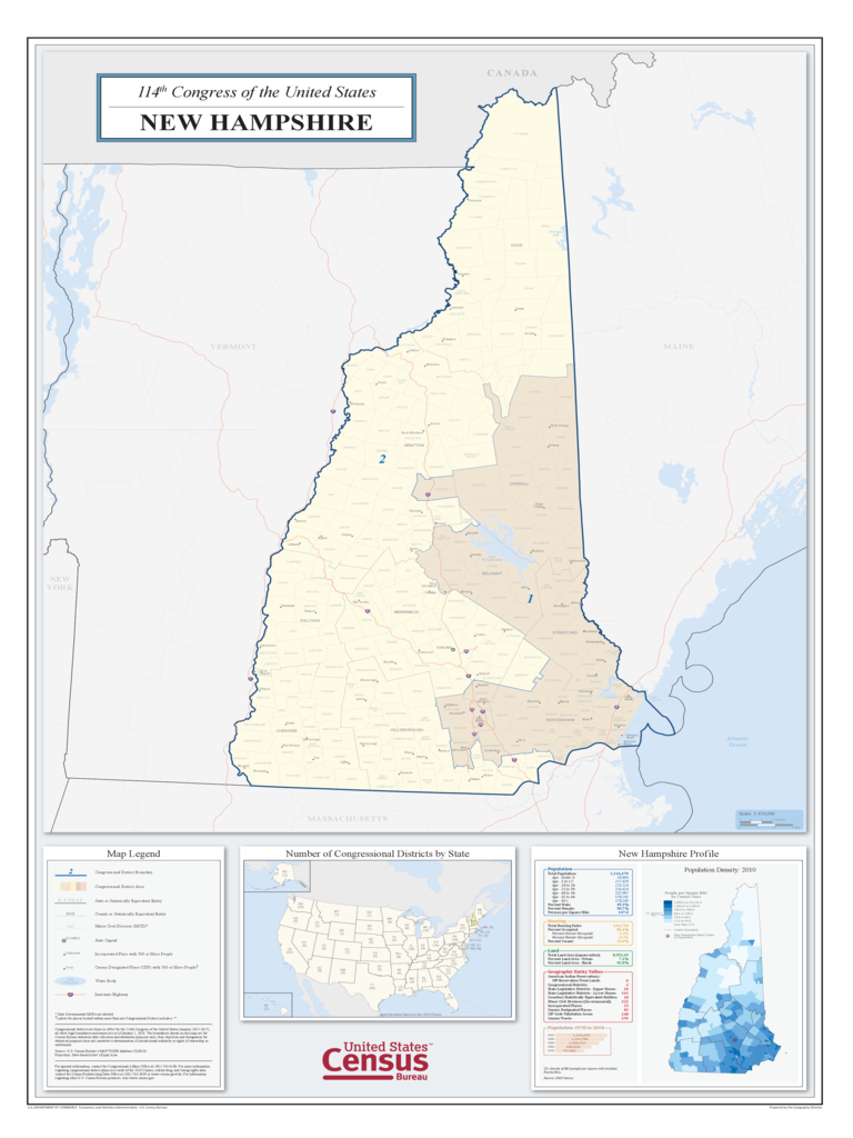 New Hampshire Congressional District Map
