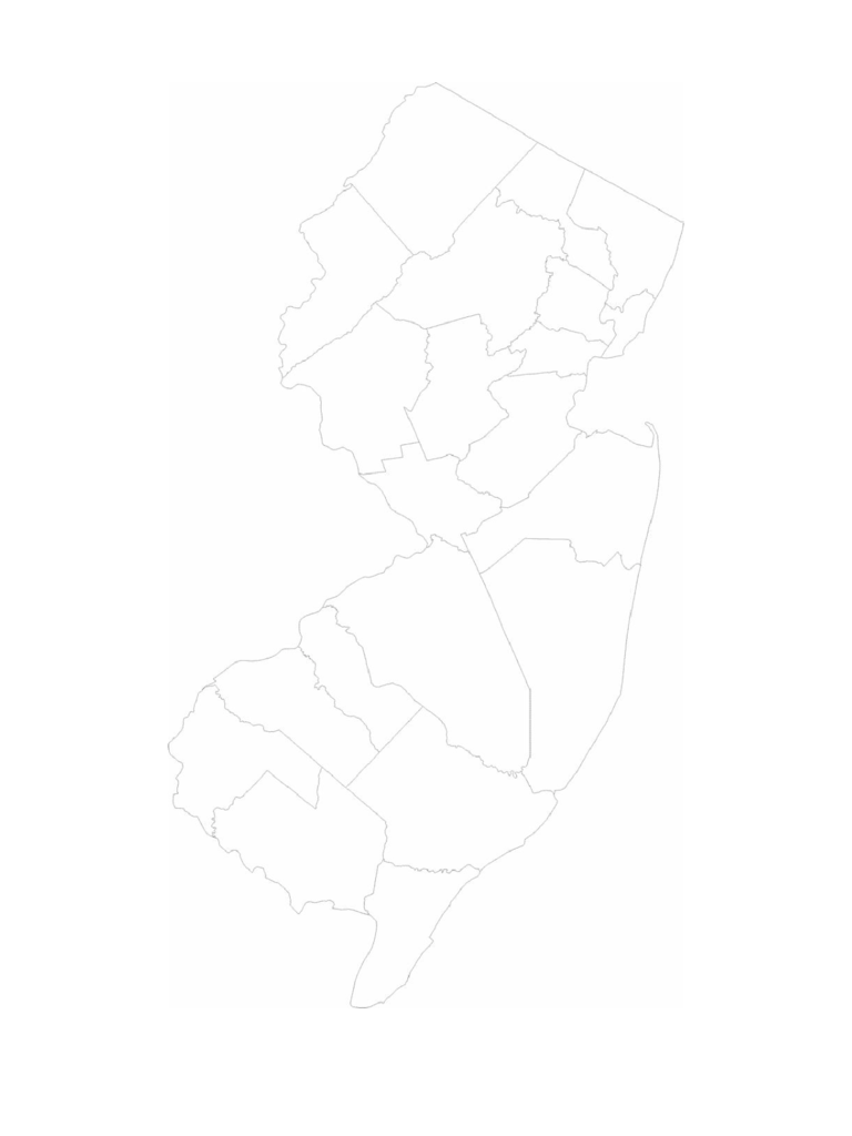 Blank New Jersey County Map
