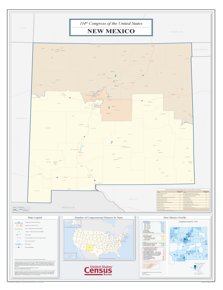 New Mexico Congressional District Map Free Download