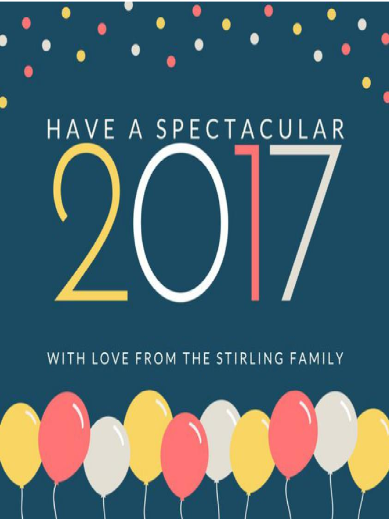 New Year Cards Template Zrom