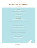 New Year's Menu Free Download