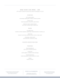 New Year's Eve Dinner Menu Free Download