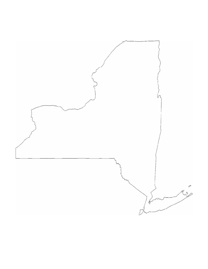 new york state outline map free download