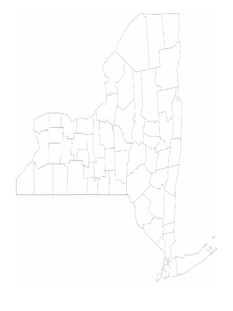 Blank New York County Map