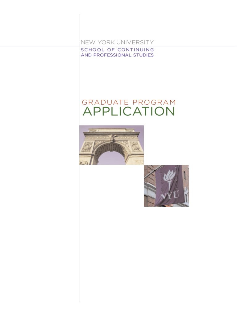 New York University Application Form for Admission