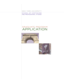 New York University Application Form for Admission Free Download