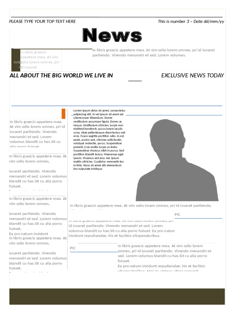Modern Newspaper Template