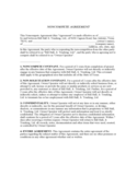 Sample Non-compete Agreement Free Download