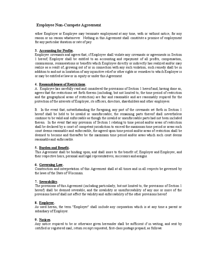 Employee Non Pete Agreement Template Free 28 Images