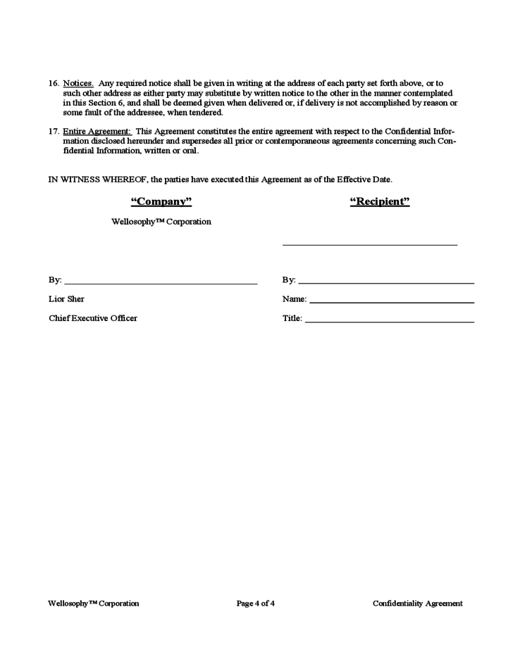 Confidentiality and Noncompete Agreement Template Free Download – Sample Non Compete Agreement Template