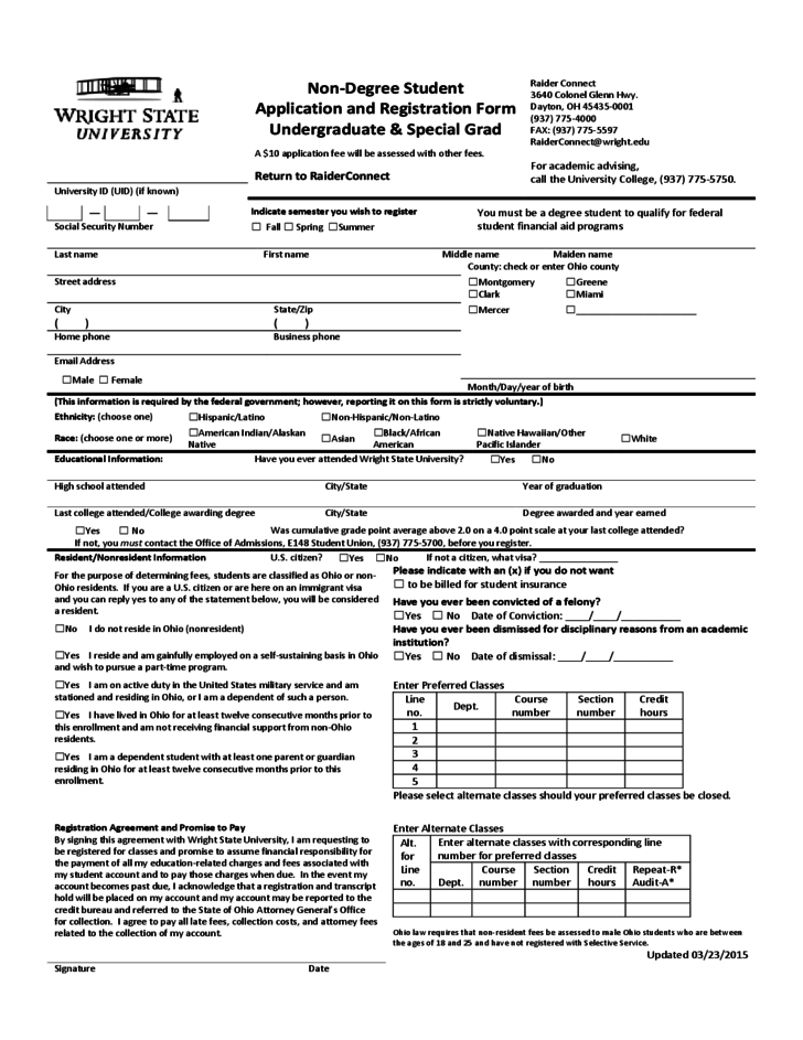 High School Registration Form Template Images - Template Design Ideas