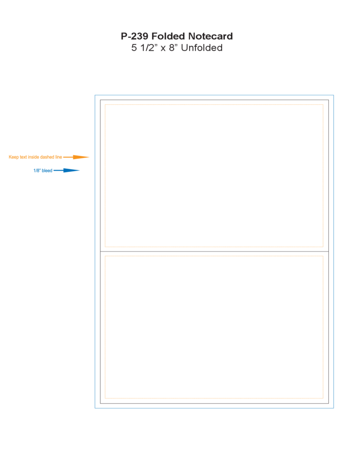 folded note card template free download