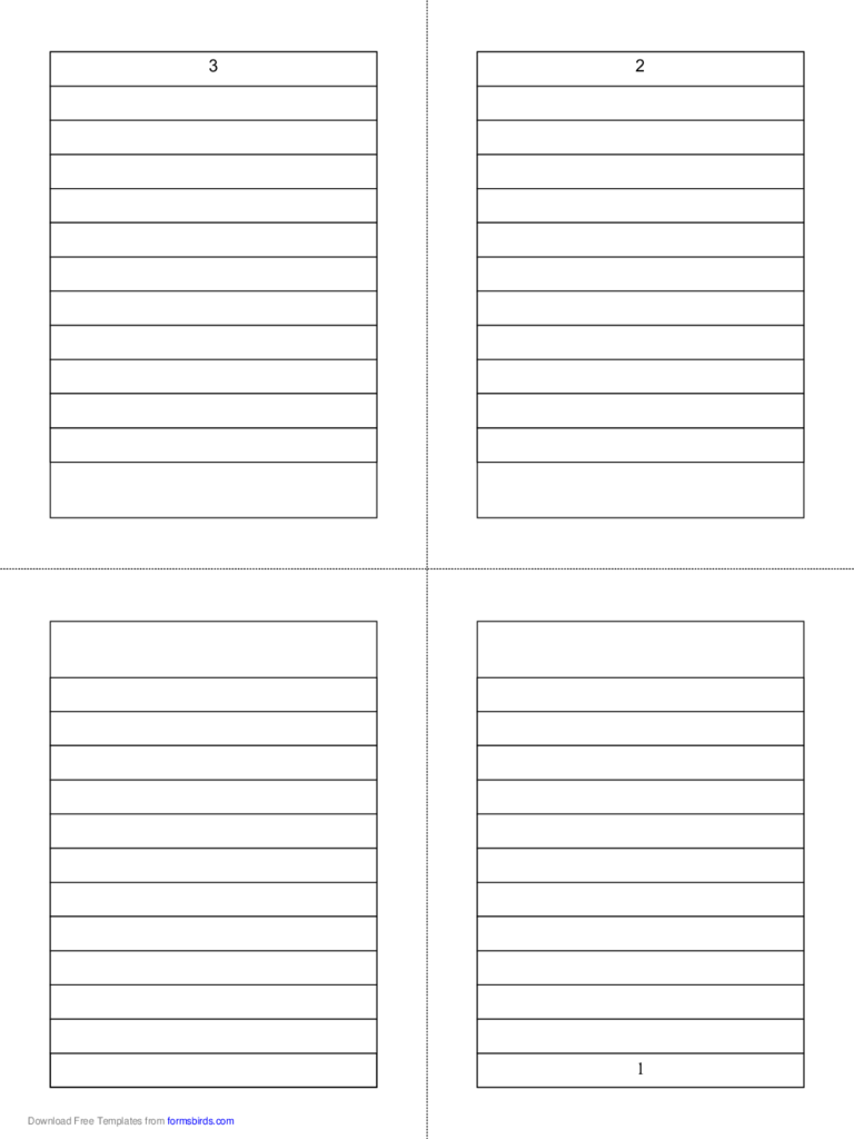 Foldable 4-Page Note Paper