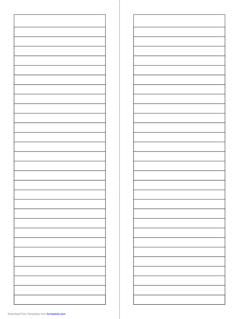 Foldable 2-Page Tall Note Paper