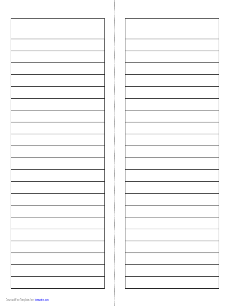 Foldable 2 Page Note Paper  Notebook Template For Word