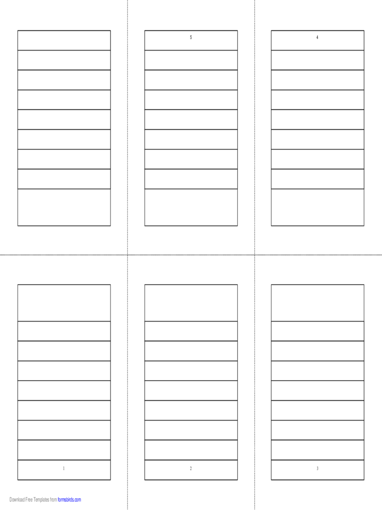 Foldable 6-Page Note Paper
