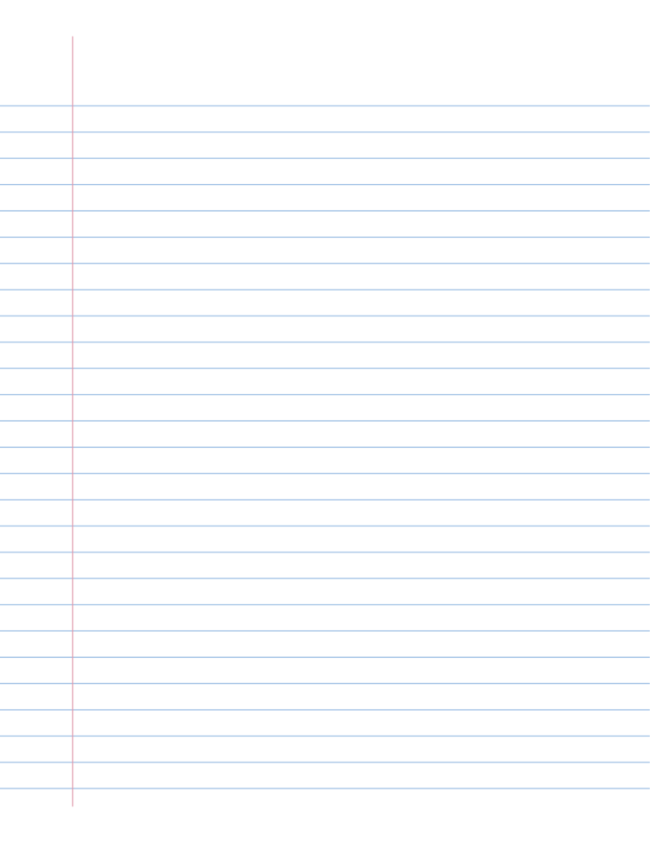 notebook paper template free download