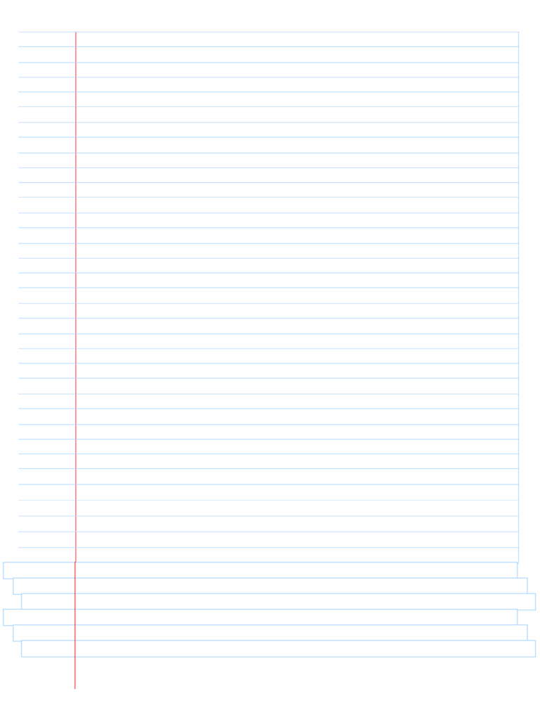 Blank Notebook Paper Free Download