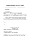 Texas Three Day Notice to Quit for Nonpayment of Rent