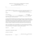 Pennsylvania Ten Day Notice to Quit for Nonpayment of Rent