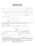 New Mexico Three Day Notice of Non-Payment of Rent