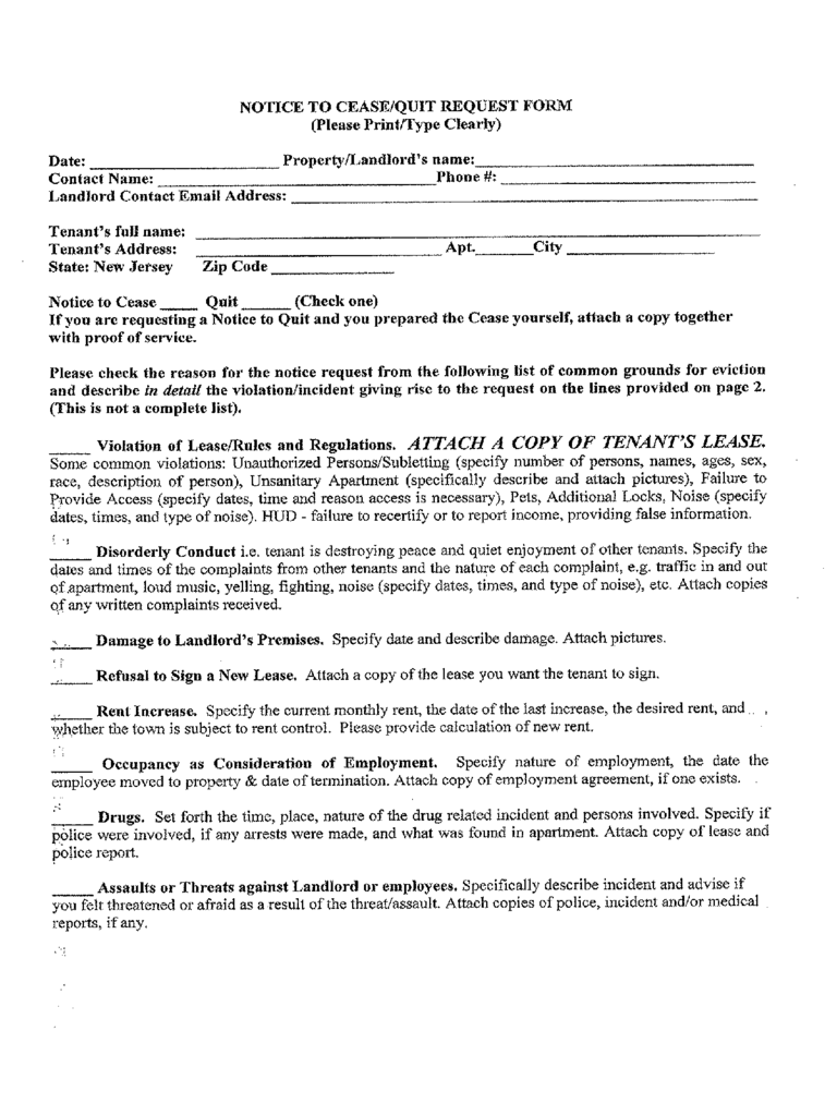 New Jersey Rent And Lease Template Free Templates In Pdf