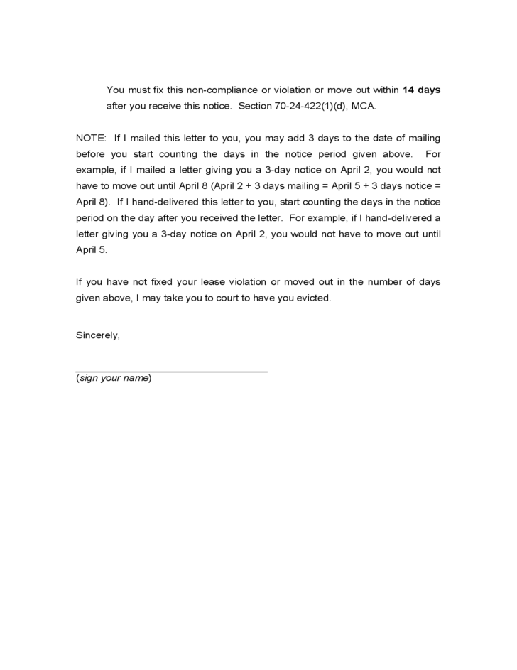 Doc25503300 Sample Notice to Quit Letter Sample Notice To – Printable Eviction Notice Form