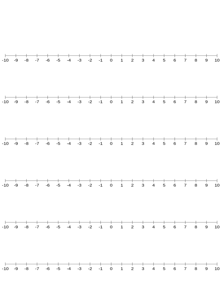 Numbered Line Graph Paper Template