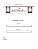 The King's Numerology Chart Free Download