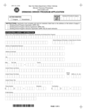 Form DPR-103 - Drinking Driver Program Application - New York Free Download