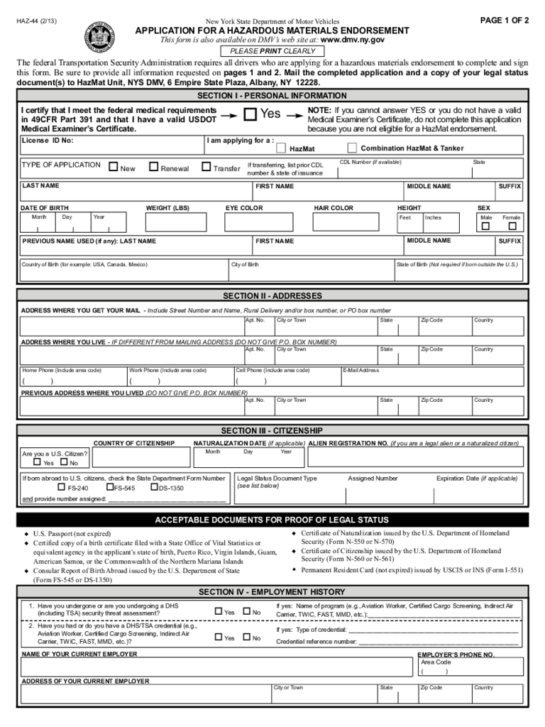 Ny Dmv Registration Form >> NY DMV Commercial Drivers - 9 Free Templates in PDF, Word, Excel Download