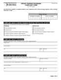 Form DTP-201 - Driver Training Programs Complaint Form - New York Free Download
