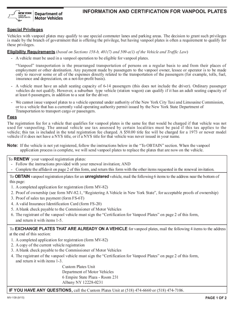 Nys motor vehicle forms for Dmv motor vehicle report