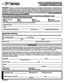 Form MV-653 - Certification of Eligibility for Official Plates - New York