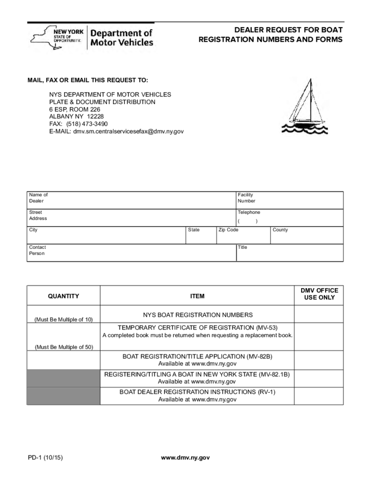 form-pd-1-request-for-dealer-boat-registration-new-york-l1 Power Of Attorney Form New York State on free printable, sample limited, north carolina, printable medical, texas durable, military durable, new york blank durable,
