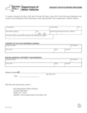 Form DS-115 - Request for Driving Privileges - New York Free Download