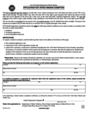 Form MV-80W - Application for Tinted Window Exemption - New York