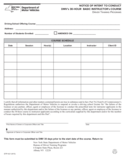 Form DTP-421 - Intent to Conduct DMV's 30-Hour Basic Instructor's Course Notice - New York Free Download