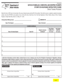 Form DTP-422 - DMV's 30-Hour Basic Instructor's Course Notice - New York Free Download
