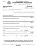 Form MV-83T - Statement of Partnership or Joint Ownership - New York Free Download