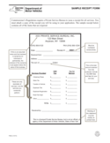 Form PSB-2 - Sample Receipt Form - New York Free Download
