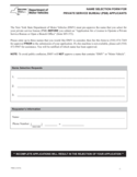 Form PSB-3 - Name Selection for Private Service Bureau Applicants - New York Free Download