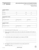 Form ELT-2 - Application for Electronic Lien Transfer Program - New York Free Download