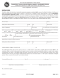 Form MV-349 - Transfer of Vehicle Registered in Name of Deceased Person - New York