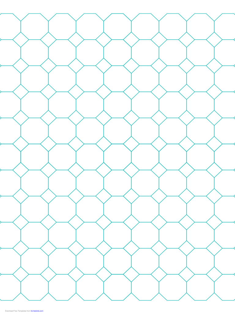 Octagon Graph Paper with 1-Inch Spacing on Letter-Sized Paper