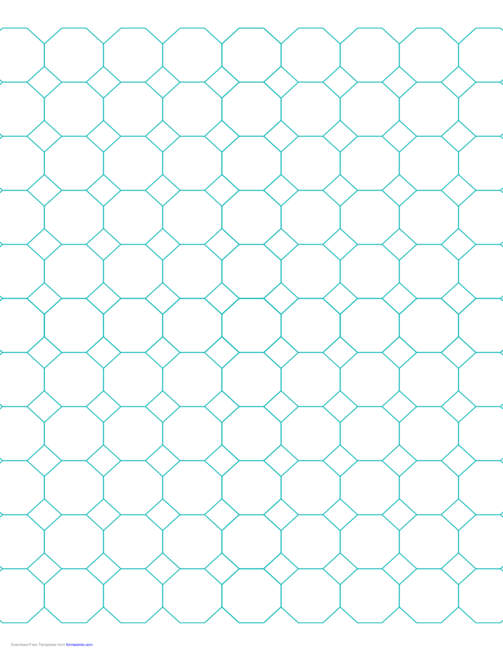 Octagon Graph Paper with 1-Inch Spacing on Letter-Sized Paper Free ...