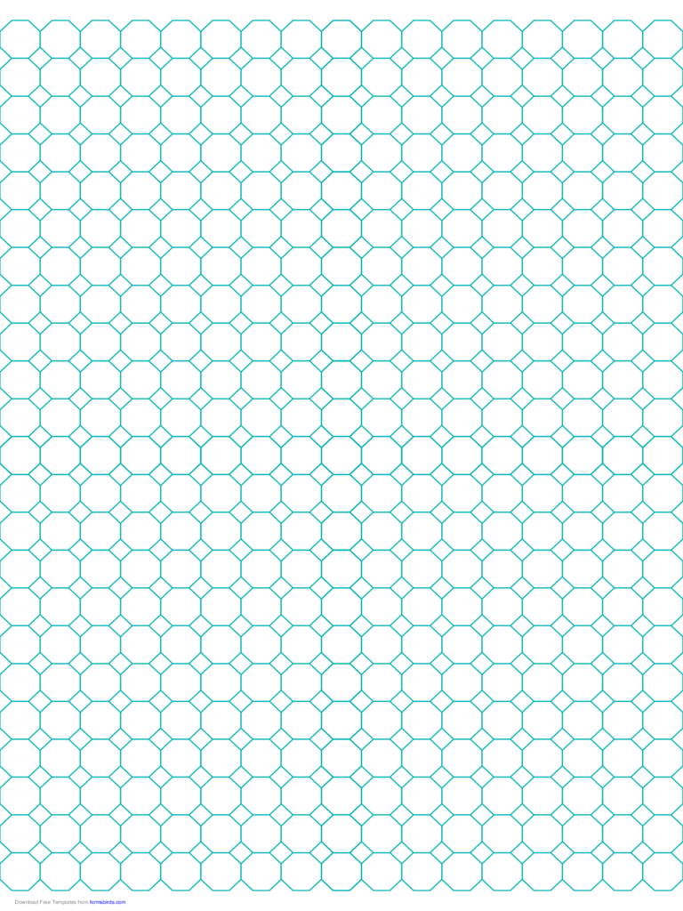 Octagon Graph Paper with 1/2-Inch Spacing on Letter-Sized Paper
